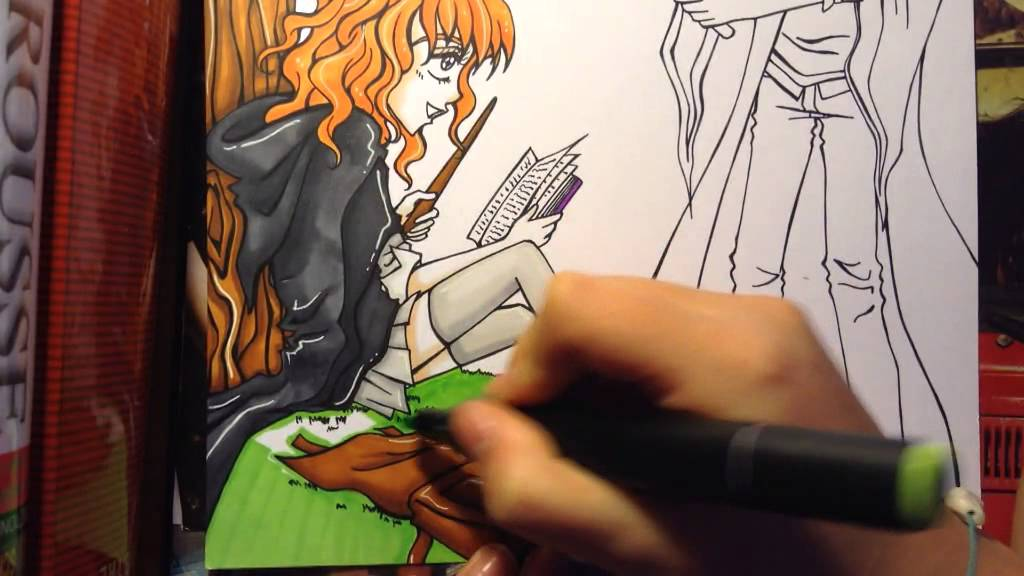 Dessin manga sorciers harry potter youtube - Dessin harry potter facile ...