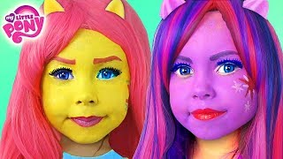 vuclip Kids Makeup My Little Pony with Colors Paints Alisa Play Dolls Equestria Girls MLP & DRESS UP