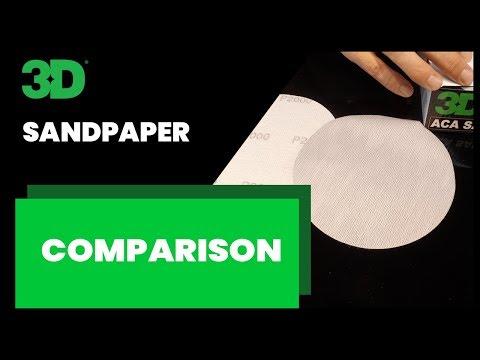Sand Paper Comparison 3M and 3D