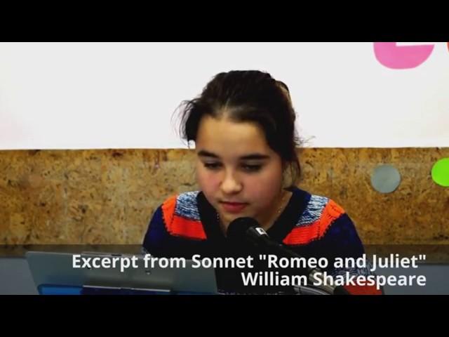 Изображение предпросмотра прочтения – ЕлизаветаРадченко читает произведение «Ромео и Джульетта» У.Шекспира