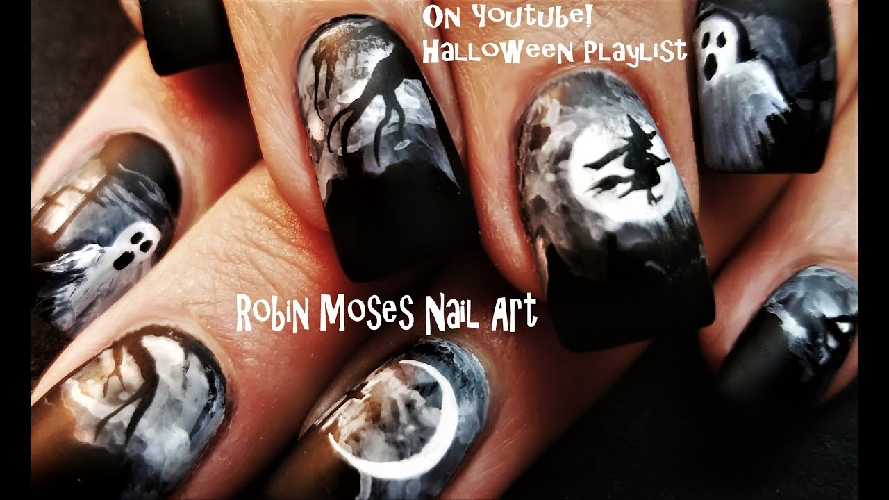 Halloween nails paint this graveyard for pennies diy nail art halloween nails paint this graveyard for pennies diy nail art design tutorial prinsesfo Gallery