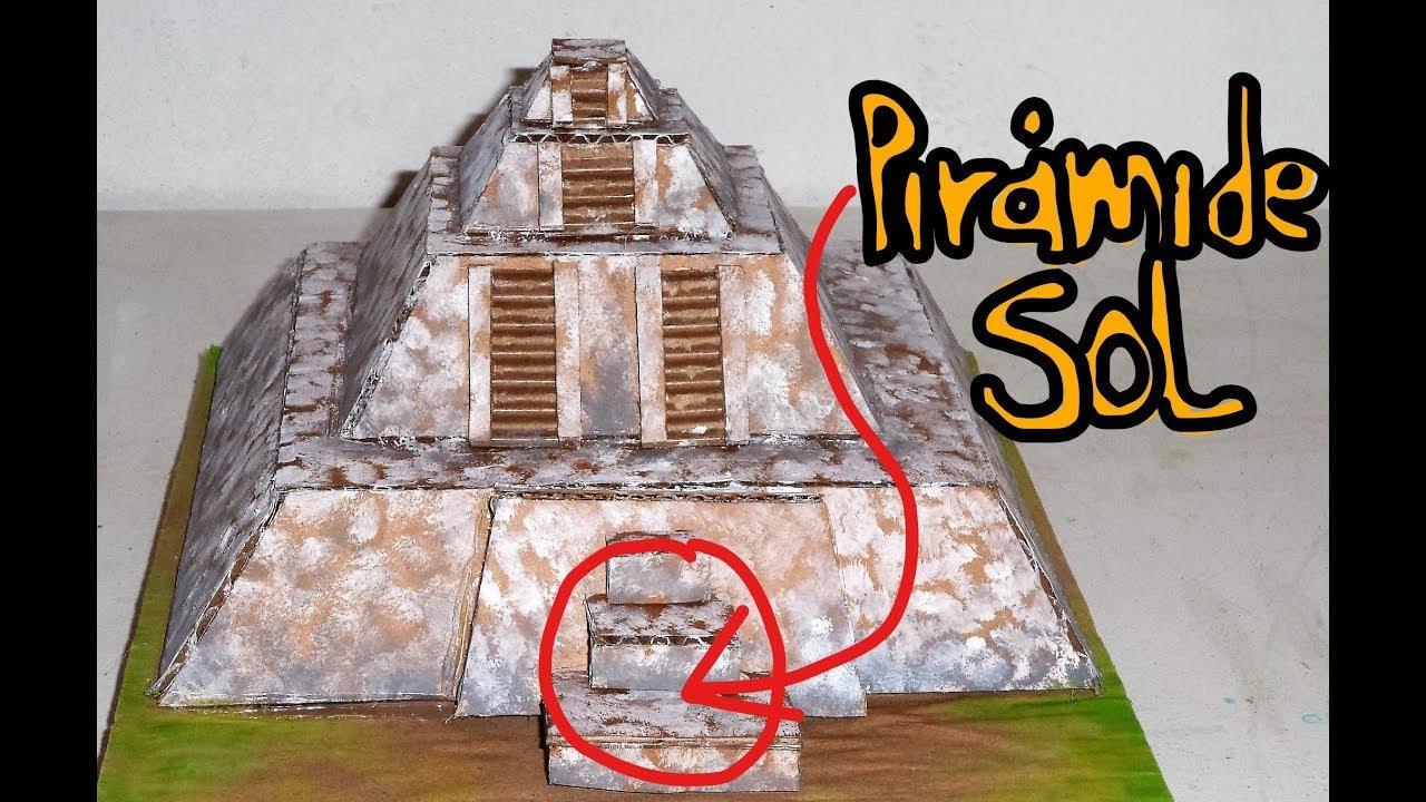 Pirámide Del Sol Maqueta De Cartón Youtube