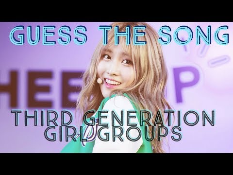 GUESS THE KPOP SONG IN 10 SECONDS [THIRD GEN GIRL GROUP EDITION]