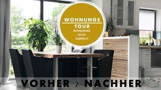 WOHNUNGSTOUR / DEKO HAUL | Update Wohnzimmer / Küche / Esszimmer | Vorher / Nachher | JUCEPAULINE