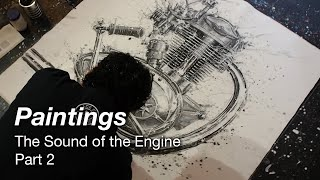 Motorcycle Art Part 97 / Paintings of the Sound of the Engine 2