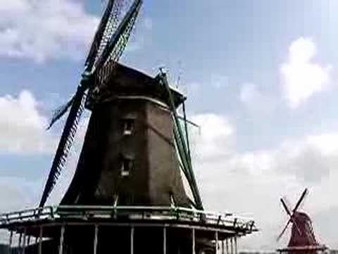 Old Windmills in North Holland.