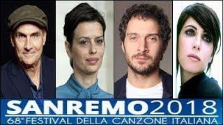 Sanremo 2018   Ospiti Terza Serata: James Taylor,Claudia Pandolfi,Claudio Santamaria,Giorgia..