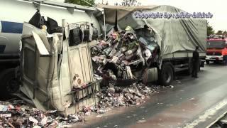 Der Tod fährt mit - Heavy truck accidents - The death drive - Schwere LKW Unfälle - Truck Crash