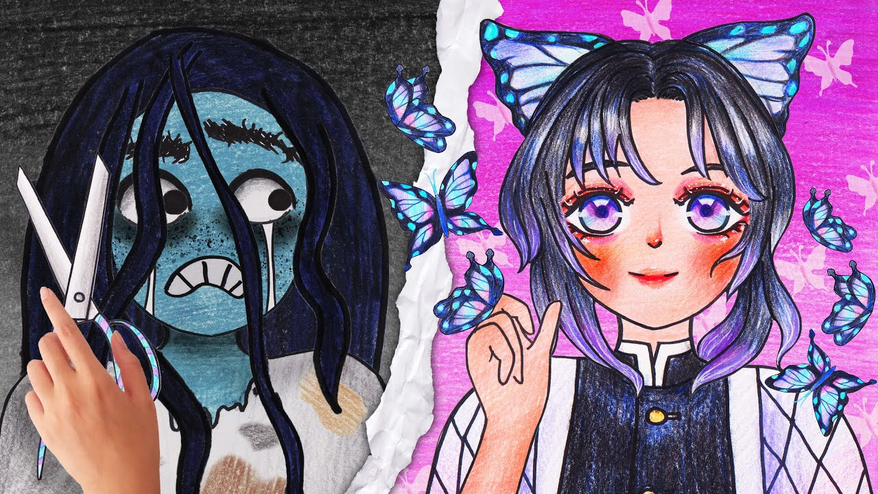 🦋 KOCHOU SHINOBU🦋| Makeup Cosplay Demon Slayer - Seegi Channel
