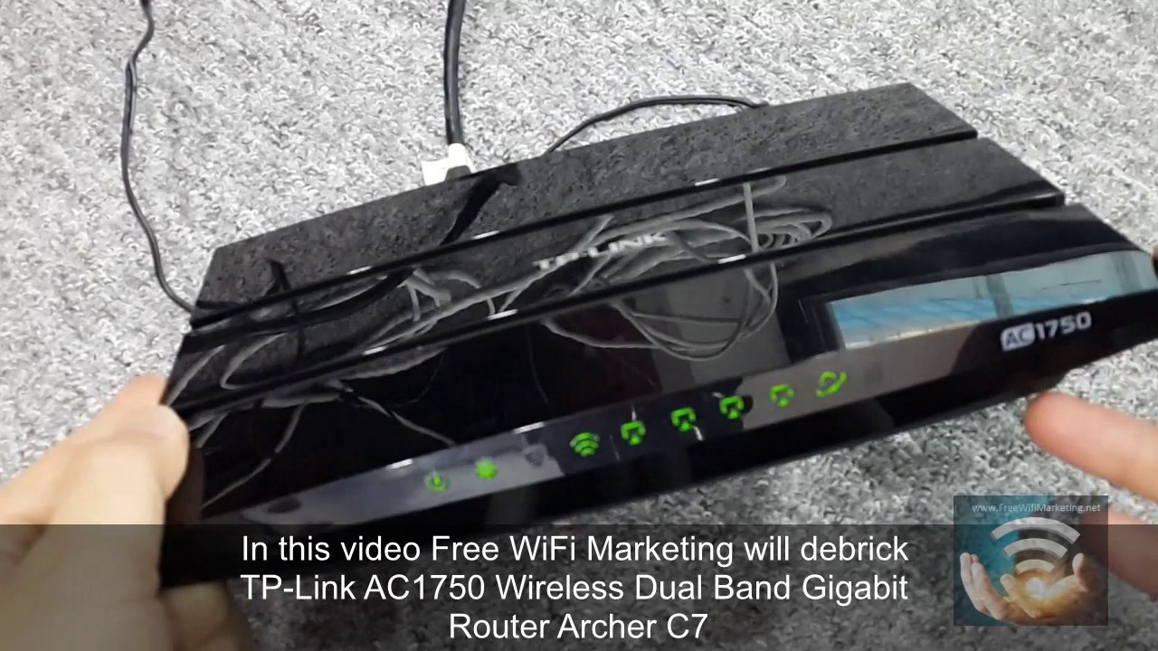 Unbrick/Debrick TP-Link Archer C7 AC1750 WiFi router TFTP no serial console