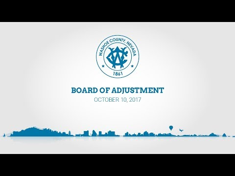 Washoe County Board of Adjustments | October 5, 2017