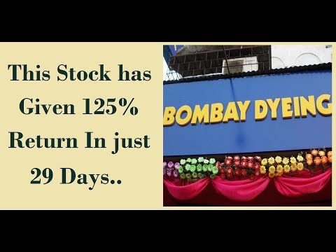 This Stock has Given 125% Returns In just 29 Days | Bombay Dyeing & Mfg. Co.
