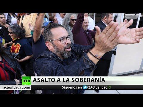 Policía irrumpe en la Embajada de Venezuela en Washington y detiene a los cuatro activistas