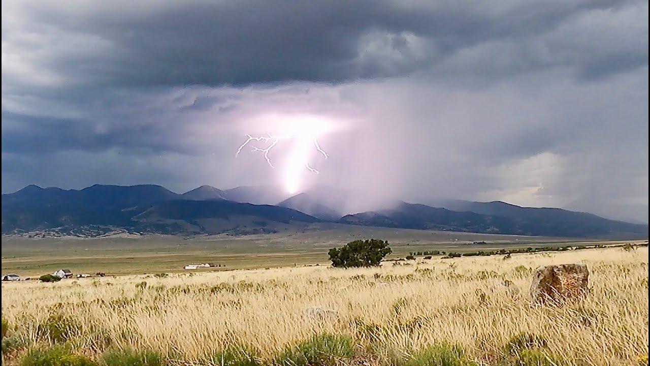 Living in my 4x4 Truck in Colorado: My First Lightning Strike on Camera!