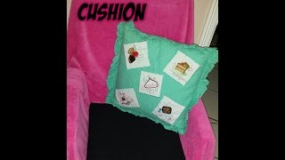 Easy Diy No-sew Chair Cushion!