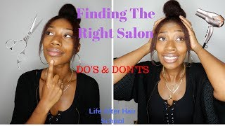 FINDING THE RIGHT SALON TO APPRENTICE | LIFE AFTER HAIR SCHOOL | DO'S & DON'TS ! * MUST WATCH *