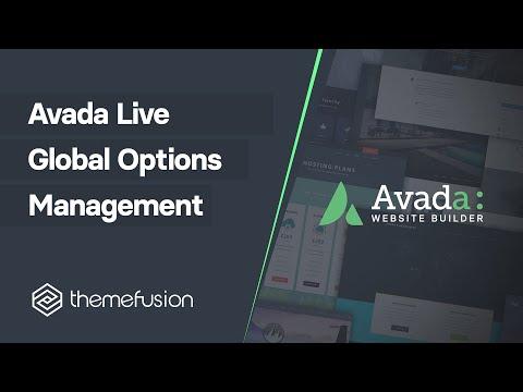 Avada Live Global Options Management Video