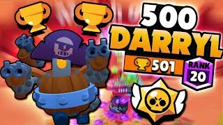 NEW BRAWLER 500 PUSH THE BARREL DARRYL! | Brawl Stars | HIGH LEVEL HEIST GAMEPLAY u0026 BEST TIPS!