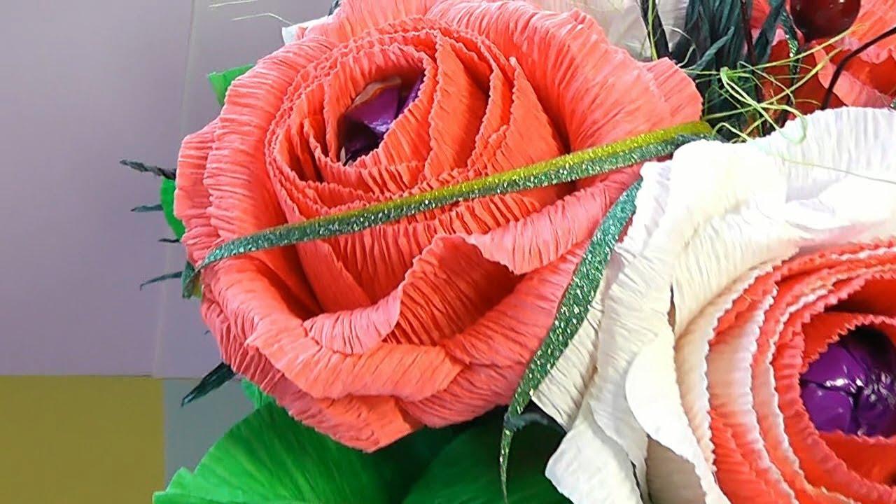 Пышные цветы из бумаги своими руками фото 126
