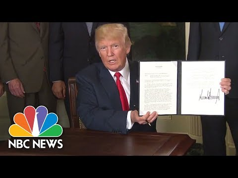 President Donald Trump Signs Memo To Probe China's Trade Practices | NBC News