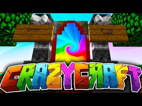 "Minecraft CRAZY CRAFT 3.0 #1 ""LET THE CRAZY BEGIN!"" (Angels, Crazy Ores, Portal Gun!)"