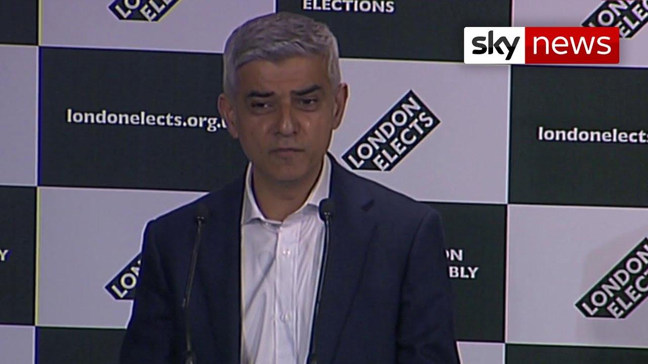 Download Vote 2021: Sadiq Khan wins London mayoral election