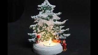 DIY Tannenbaumkerzenständer / Fir Tree Kerzenständer