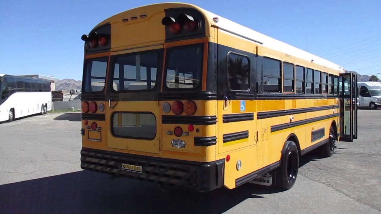 2003 blue bird wheelchair accessible school bus b07864