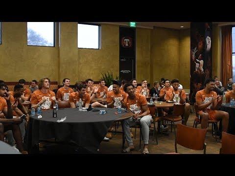 Texas Men\'s Basketball NCAA Selection Show Reaction [March 12, 2018]