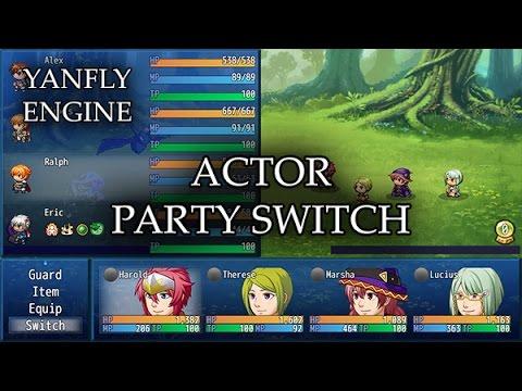 YEP 108 - Actor Party Switch - RPG Maker MV