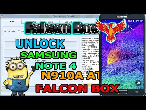 UNLOCK NOTE 4 AT&T N910A FALCON BOX - YouTube