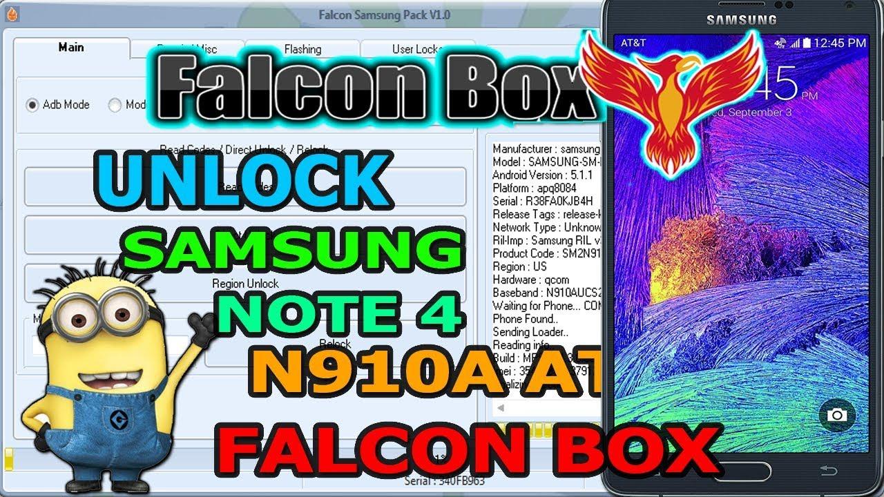 UNLOCK NOTE 4 AT&T N910A FALCON BOX