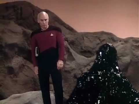 Captain Picard taunts Armus, Skin of Evil.