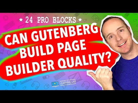 WordPress Gutenberg Blocks Tutorial Showing How Gutenberg Could Be A Real Page Builder With Getwid
