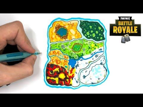 Tuto Dessin Map Fortnite Saison 8 Youtube