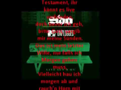 Sido - Mein Testament [Unplugged]DownloadLyrics!