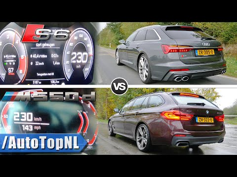 AUDI S6 QUATTRO 2020 Vs 2020 BMW M550d XDrive | 0-230km/h DRAG RACE & POV By AutoTopNL