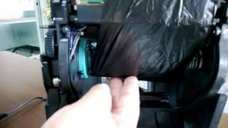 วิธีการใส่กระดาษ และผ้าหมึกเครื่องพิมพ์บาร์โค้ด Zebra GT800 Barcode Printer