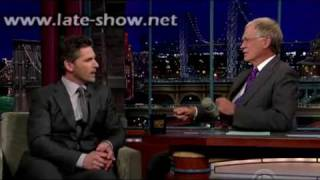 [ HD ] Eric Bana guest star on David Letterman Late Show // July 27 2009