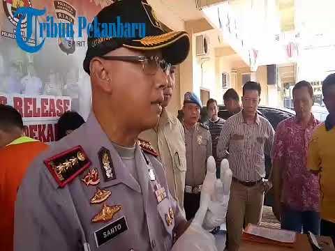 Polresta Pekanbaru Ringkus Lima Pelaku Perampokan di Gudang Angkas