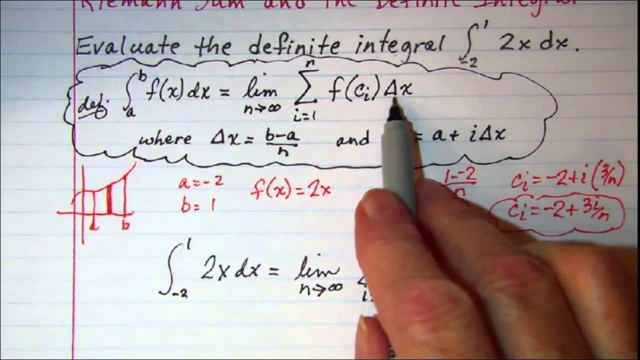 Riemann Sum and the Definite Integral - YouTube