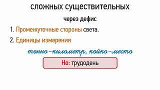 Правописание сложных существительных (6 класс, видеоурок-презентация)