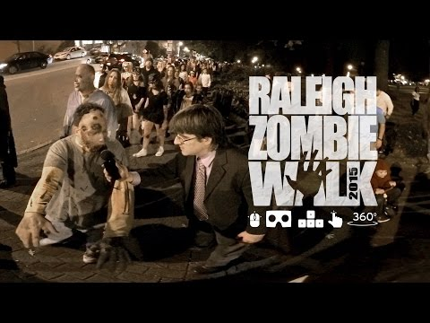Breaking News: Zombies Invade Raleigh NC [360º video]