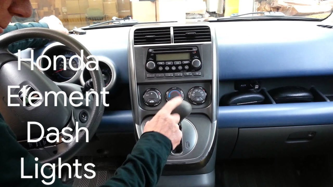 hight resolution of honda element how to change all instrument panel cluster lights in 30 minutes