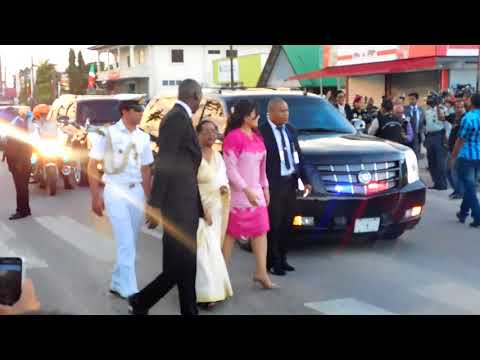 Arrival President Desi Bouterse and President Ram Nath Kovind in Lelydorp/Suriname