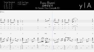 【Tab/Chords】 Yuru Camp△ ED - (Eri Sasaki) Fuyu Biyori [TV SIZE]