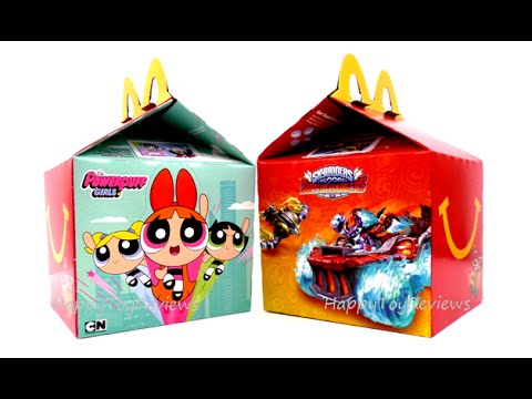 2016 Next Happy Meal Toys Powerpuff Girls Skylanders Superchargers
