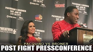 BRONER BELIEVES HE WON AGAINST PACQUIAO | POST FIGHT PRESS-CONFERENCE