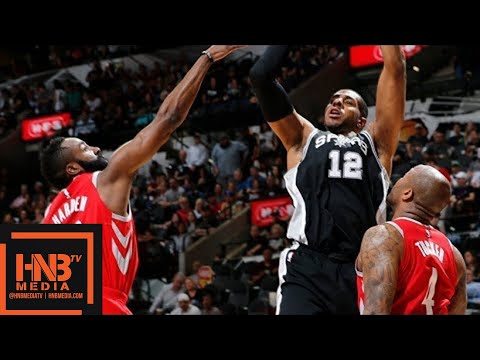 Houston Rockets vs San Antonio Spurs Full Game Highlights / April 1 / 2017-18 NBA Season