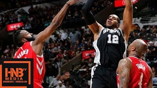 Houston Rockets vs San Antonio Spurs Full Game Highlights / April 1 / 2017-18 NBA Season streaming